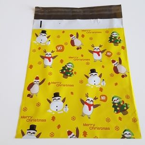 """25 Merry Christmas Poly Mailers 10""""x13"""""""